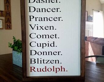 Reindeer Farmhouse Sign