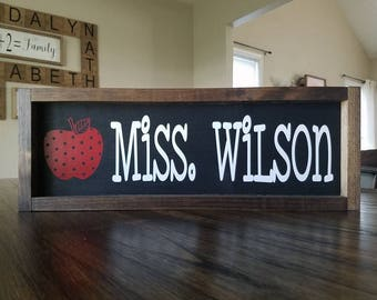 Teacher Name Farmhouse Sign