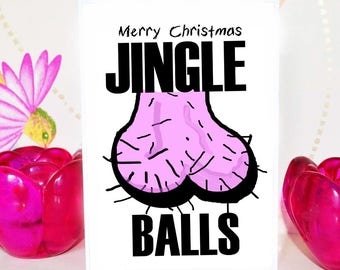 Funny Christmas Card | Merry Christmas Jingle Balls