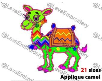 Camel Applique Design. Camel machine embroidery design. 21 sizes. Camel embroidery design. Camel applique. Machine embroidery Camel .