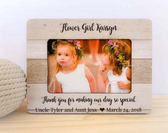 Personalized Flower Girl Gift Personalized Flower Girl Frame Thank You Gift for Flower Girl Custom Frame for flower girl