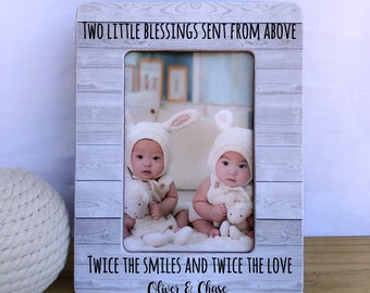 Twins Gift Frame Twins picture frame. Nursery decor. Brothers picture frame. Sisters picture frame Newborn Twins Frame Gift