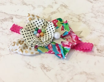 Girl headband- baby girl flower headband