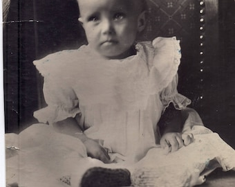 Old photo Russian Cute boy Old snapshot photo Cute toddler Soviet photograph Children photo Studio photography