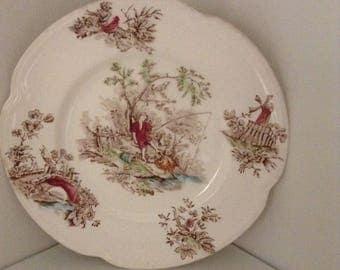Johnson Bros Toile De Jouy Plate, China, Decorative Plate