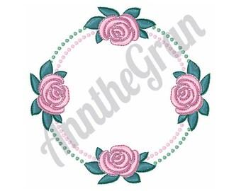 Rose Circle - Machine Embroidery Design