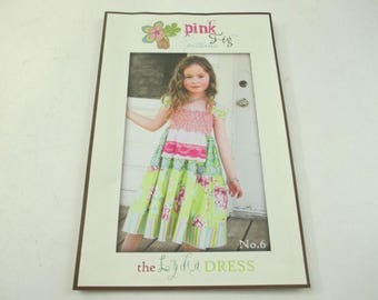 Pink Fig Patterns the Lydia Dress sewing pattern no. 6, baby, toddler and little girl's dress pattern