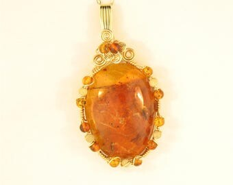 Wire Wrapped Dominican Amber