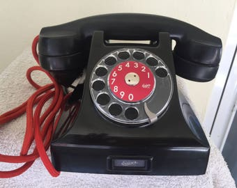 Antique Telephone ERICSSON black bakelite(SWEDEN)
