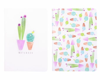 Cacti Notebook Set Purple A6