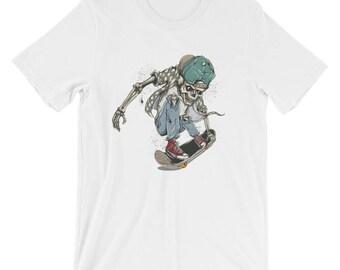 Skater Skeleton Short-Sleeve Unisex T-Shirt