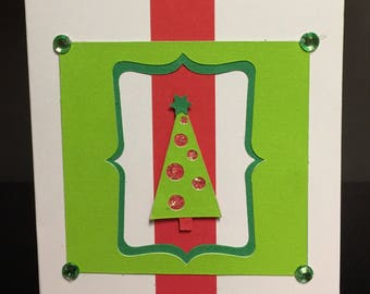 Handmade Christmas Card ~ Christmas Tree