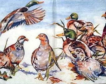 Duck and Turkey napkin