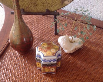 Bohemian Porcelain Trinket Box