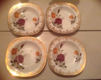 Four Alfred Meakin small dishes