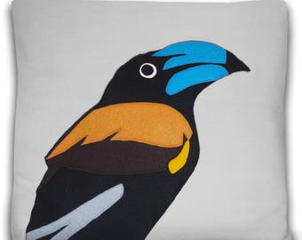 Colorful Bluebill Decorative Pillow Cover