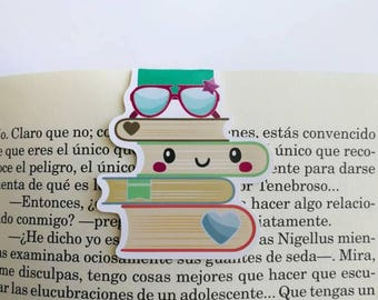 Pile of books || Magnetic Bookmark