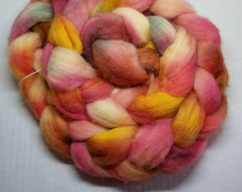Indie dyed hand dyed Merino hand dyed roving spinning felting fiber