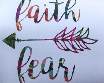 Faith over fear decal