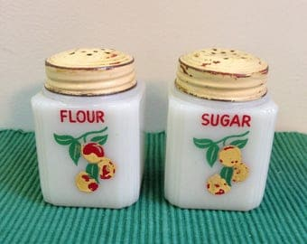 1950's Milk-glass Shakers