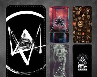 Illuminati  iphone 7 wallet case, iphone 6 wallet case,iphone 5s wallet case, iphone 4/4s, 5c, SE, 6/6s, 6 plus,7,7 plus wallet case #5