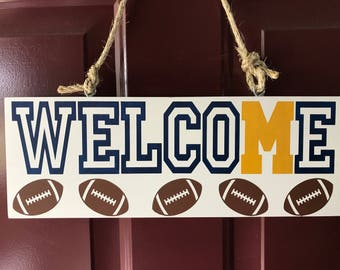 Football team welcome sign