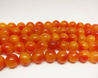 Agate Beads 12mm Agate Beads 12mm Round Beads Orange Agate Beads Jewelry Beads for Jewelry Making Jewelry and Beading DIY Jewelry Supplies