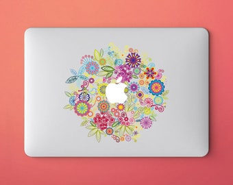 Flower laptop sticker for macbook pro skin macbook sticker macbook air sticker macbook front decal