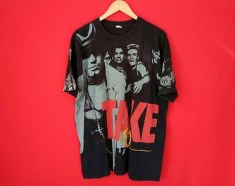 vintage Take that overprint  band music concert t shirt
