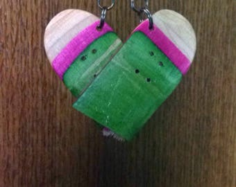 Pink, Green and Blue Car Mirror Ornament.