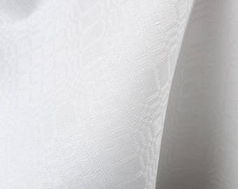 White Linen Fabric | Cotton Linen | Fabric | White Cotton Fabric | Cotton Fabric | Cotton Blend Fabric | Linen Blend Fabric | By The Yard