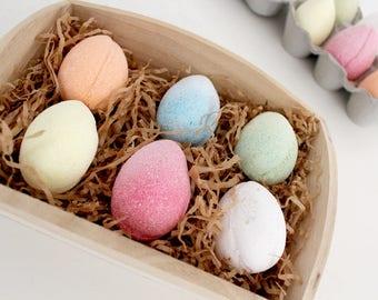 Egg Bath Fizzies - Gift - Egg Bath Bombs in a Box, Easter Gift, 6x50g
