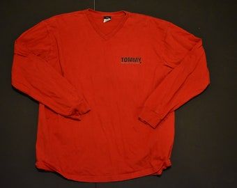 Vintage tommy hilfiger jeans longsleev tee shirt size xl