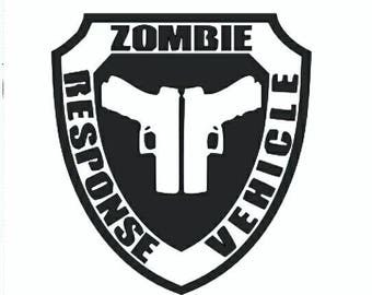 Zombie Response Vehicle vinyl sticker decal