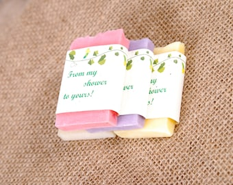 30 Mini Soap Wedding Favors, Bridal Shower Favor Soap, Baby Shower Favors, Wedding Guest Gift Soap, 16 Party Favors, Soap Favors, Guest Soap