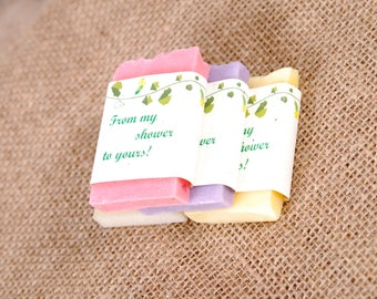 30 Mini Soap Wedding Favors, Bridal Shower Favor Soap, Baby Shower Favors, Wedding Guest Gift Soap, 16 Party Favors, Soap Favors, Guest Soap