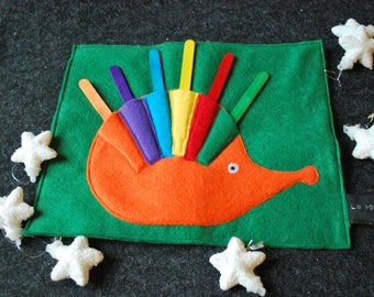 Color sticks / Inspiration Montessori and Steiner motor coordination, learning game