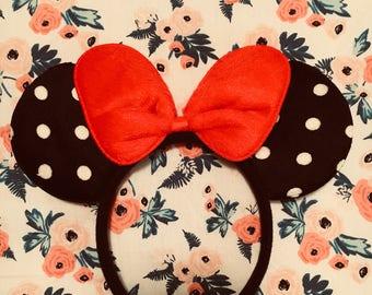 Cute Minnie Mouse Polka Dot Ears