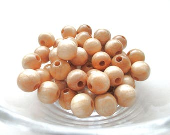 25 pacifier 12mm - natural wooden beads