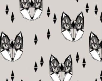 Geometric Fox Baby Blanket