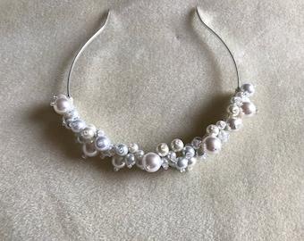 Cream and White Pearl Tiara