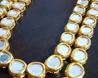 Gorgeous Indian 2 layer long kundan bridal / non-bridal necklace haar