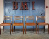 Set of 4 Vintage Mid Century 1970s G Plan Teak Dining Chairs