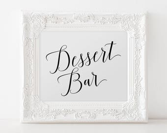Dessert Bar Sign, Printable Dessert Table Sign, Dessert Sign For Wedding, Wedding Dessert Table Signs, Wedding Dessert Bar Table Sign