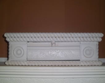 Handmade Wall or Furnirture Shelf 90% Finished Designer Trim Moldings and Hidden Storage Compartment Rope Molding Wood Blck Ends