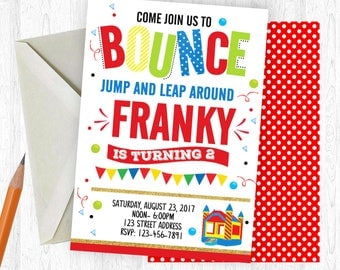 Bounce House Birthday Invitation, Bounce House Invitation, Bounce House Invite, birthday invite, Birthday Party,  Printable Invitation, Jump