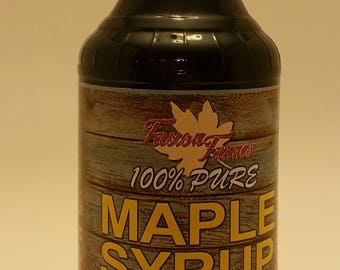 Pure Maple Syrup - Faxon Farms - 16 oz Glass (Grade A Amber)