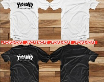 Thrasher shirt / Thrasher Skateboard T-shirt skate VER.3 Flames