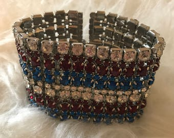 NOIR Red White Blue Cuff Bracelet