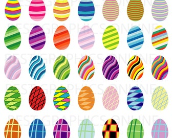80% OFF SALE Commercial use clipart Easter egg clipart Easter eggs illustration Easter clipart Easter Scrapbooking Embellishment clipart LL1
